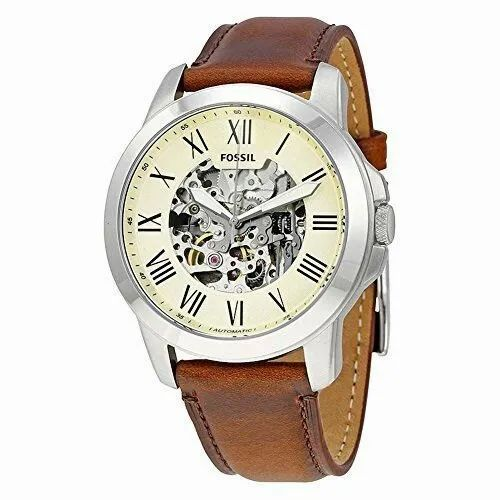 Brown Fossil Wrist Mens Watch
