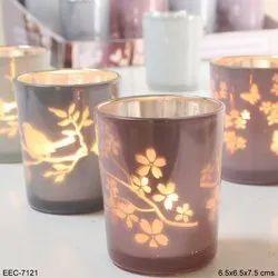 Glass Round Votive Candles