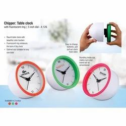 White Round Table Clock for Promotional Gifts