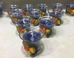 A wax Round Glass Candles
