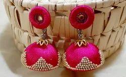 Traditional Wear Silk Thread Jhumka