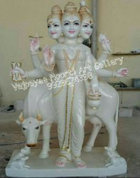 Lord Dattatreya Marble Statue