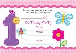 Askprints Birthday Invitation Cards On Metallic Sheets With Envelop Pack Of 25