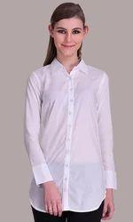 Sirene White ladies full sleeve shirt