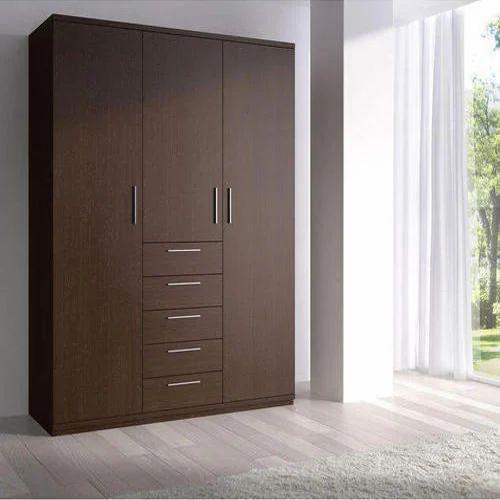 Brown Wooden Bedroom Wardrobe, Rs 25000 /piece, B N Shah Furniture ...