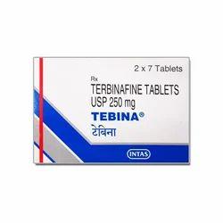 Terbinafine Tebina 500 Mg Tablet, 2*7 Tablets, Prescription