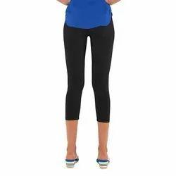 Go Colors Plain Lycra Cropped Legging