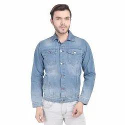Full Sleeve Casual Wear Skupar Slim Fit Men Denim Jacket