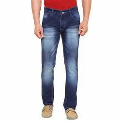 Mens Blue Color Cotton Jeans
