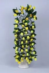 Artificial Rose Flowers Wall Hanging Foliage