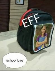 Polyester Black And Red School Bags