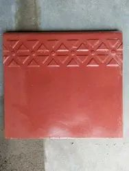 Red,Black And Yellow Cement(Concrete) Designer Step Riser Tile, Size: 11*12, 20mm