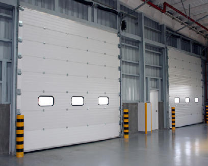 Off White Standard Industrial Sectional Door