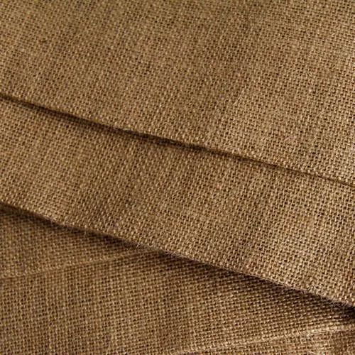 Brown Woven Hessian Cloth For Bag And