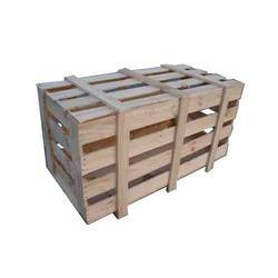 Rubber Wood Cuboid Wooden Packaging Crates