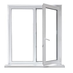 Hinged UPVC Glass Window