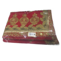 Red Georgette Bridal Georgette Saree, With Blouse Piece