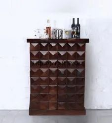 Solid Wood Small Bar Cabinet In Provincial Teak Finish Size 26x21x35h Inch