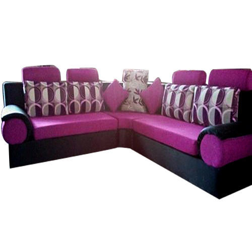 Pink Color Corner Sofa Set Rs 60000