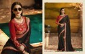 Ladies Embroidered Designer Saree, Length: 6.3 M