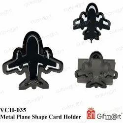 Matte Black Giftmart VCH-035 Metal Plane Shape Card Holder