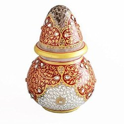 Round Traditional Marble Kalash Gift Articles