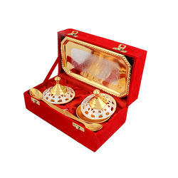 Silver Gold Plated Mouth Freshener Set
