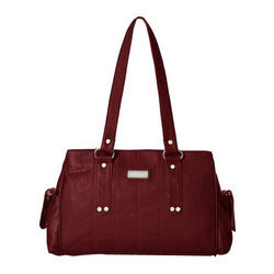 Maroon Ladies Designer Leather Handbag