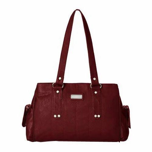 a4b6a015511 Maroon Ladies Designer Leather Handbag, Rs 500 /bag, Fauji Bag House ...
