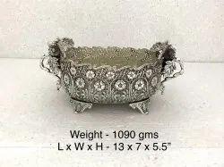 Silver Plated Metal Urli