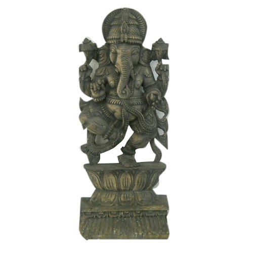 Antique Ganesha Wooden Statue