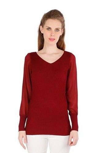a2a619fc296b Maroon Color Knitted Top For Women, Knitted Women Garments, Ladies ...