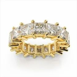 0.20 Carat Each Diamond Tannish Ring