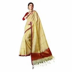 Cotton Silk Party Wear Weaving Saree ,5.5mtr