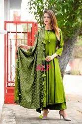Ladies Cotton 3/4th Sleeve Fancy Kurti, Size: S-XXL