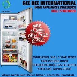 Whirlpool Refrigerator, IF 355ELT Alpha Steel