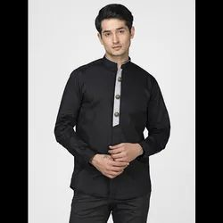 Green Hill Men''S Designer Black  Shirt