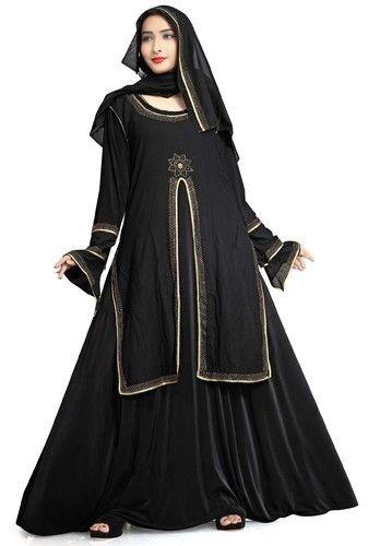 62279321bf7f Black Women's Anarkali Umbrella Style Long Abaya Burkha, Rs 1742 ...