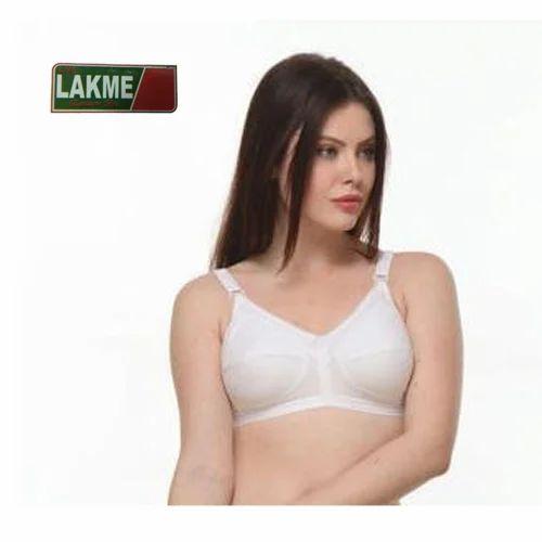 962339ec22e White Plain Lakme Ladies Bra