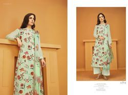 Cotton Satin Printed with Embroidery Kurti