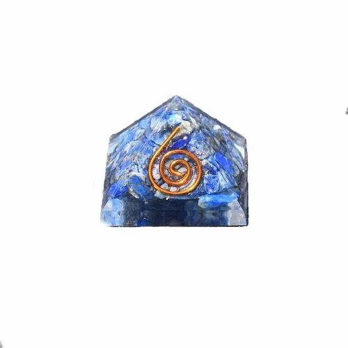 Lapis Lazuli Crystal Orgone Gemstone Pyramid