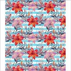 Cotton 44-45 Multicolor Digital Printed Fabric, for Garments, GSM: 150-200