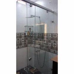 Transparent Steam Bath Glass, Shape: Rectangle