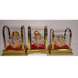 Glass Cover Ganesh Statue