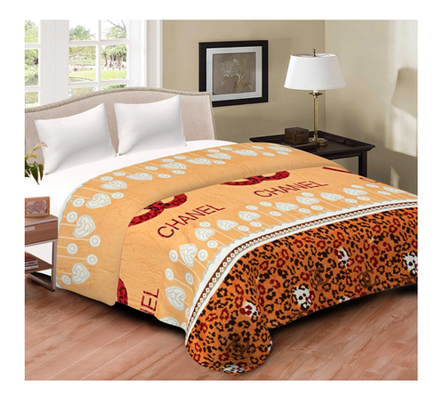 67c26ad498 Blankets - Cliq Printed Multicolor Flannel Blanket Top Sheet Bed ...