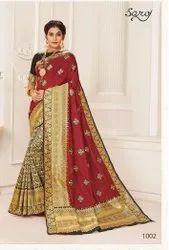 Party Wear Designer Cotton Silk Saree