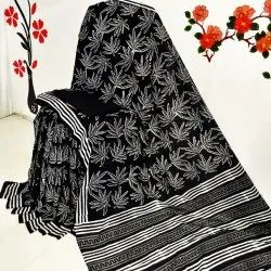Pure Cotton Hand Block Print Saree