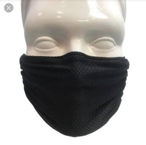black cotton surgical mask
