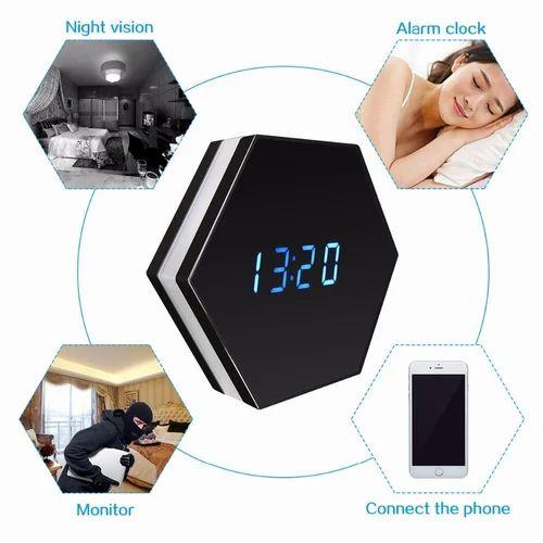 R6 Remote Wireless Electronic Clock WiFi Baby Monitor Camera