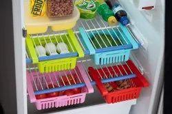 Plastic Multicolor Adjustable Fridge Rack Set Of 4
